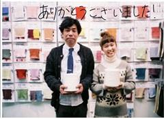 Chukyo TV interviewed us at YARN FAIR exhibition