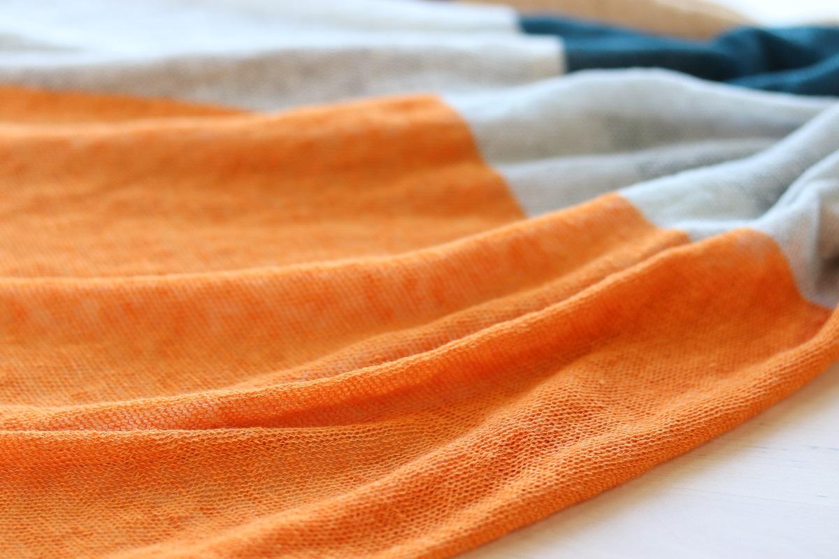 Linen knit stole